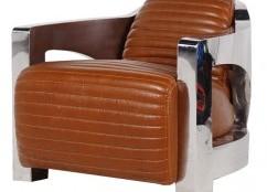 Un meuble Aviateur métal et cuir des plus rétros que ce fauteuil club Maison d'un Rêve… !